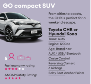 GO compact SUV Mietwagen Neuseeland