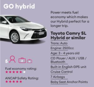 GO hybrid Mietwagen Neuseeland