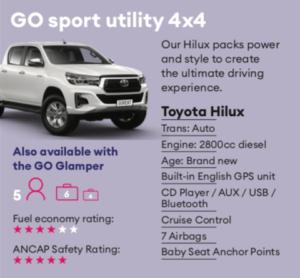 GO sport utility Mietwagen Neuseeland