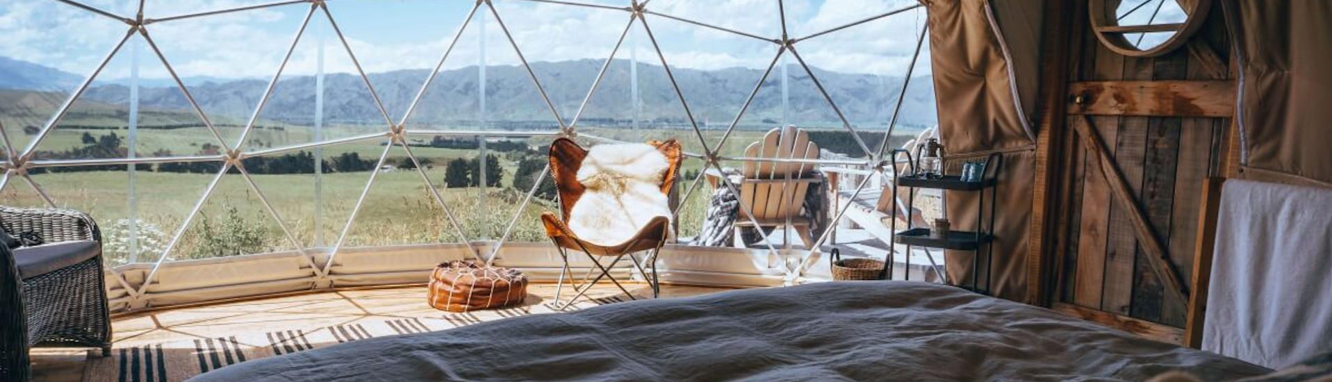 Luxury Glamping Zelt mit Küche und Bad 2