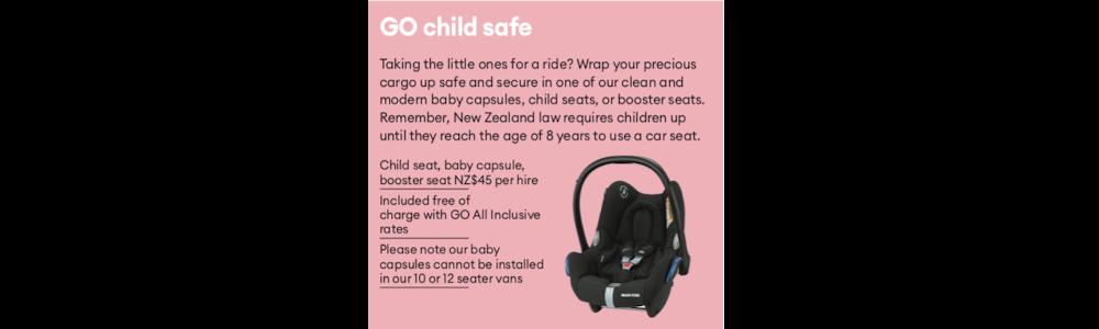 Kindersitze Mietwagen für Familien